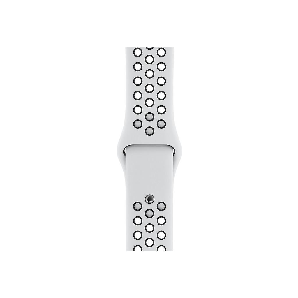 Apple Watch 44mm Siliconen Horlogeband Nike Sport Platina kopen