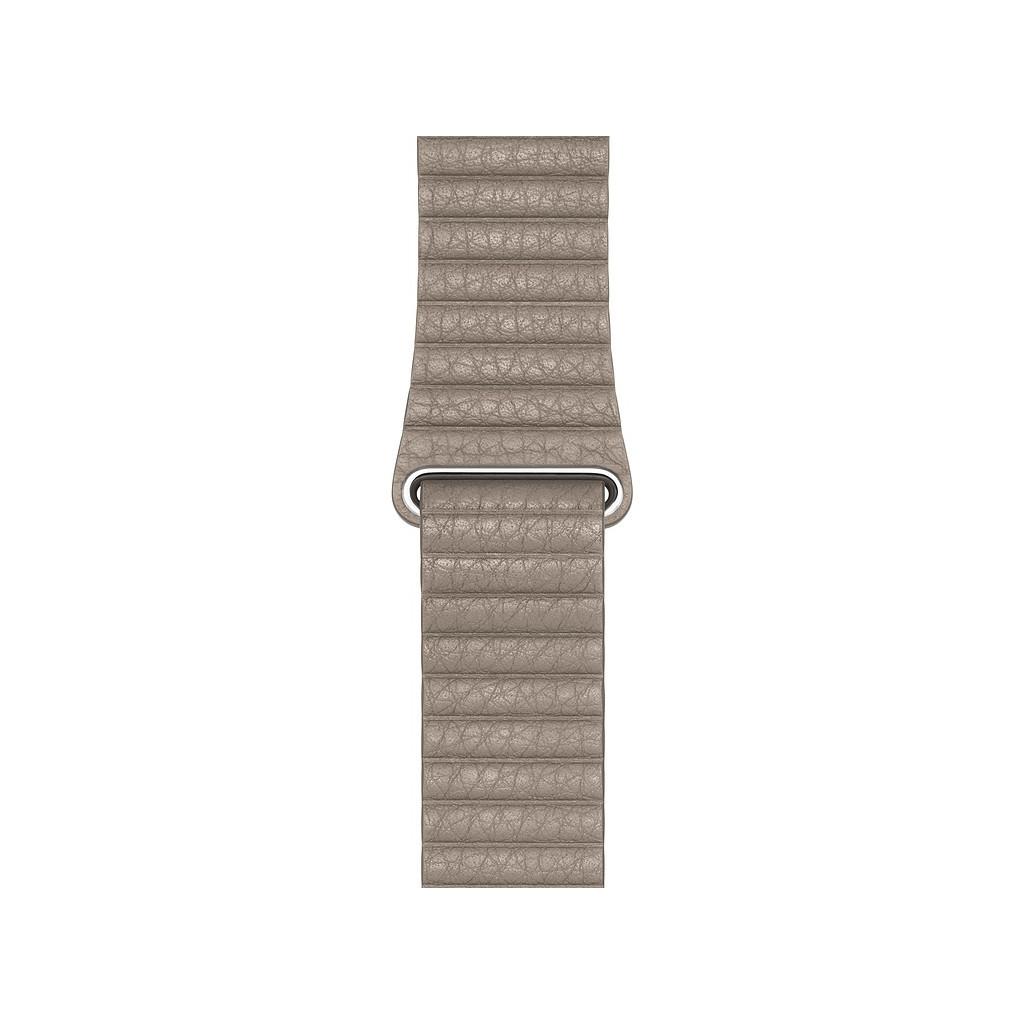 Apple Watch 44mm Leren Horlogeband Steengrijs Medium kopen