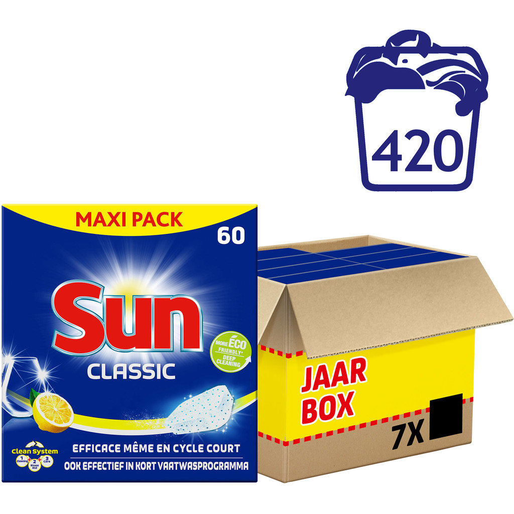 Sun Vaatwastabletten Classic Lemon 360 stuks