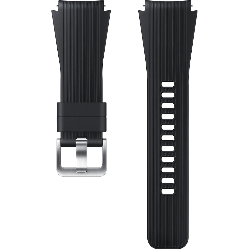 Samsung Galaxy Watch 46mm/Gear S3 Siliconen Horlogeband Zwart kopen