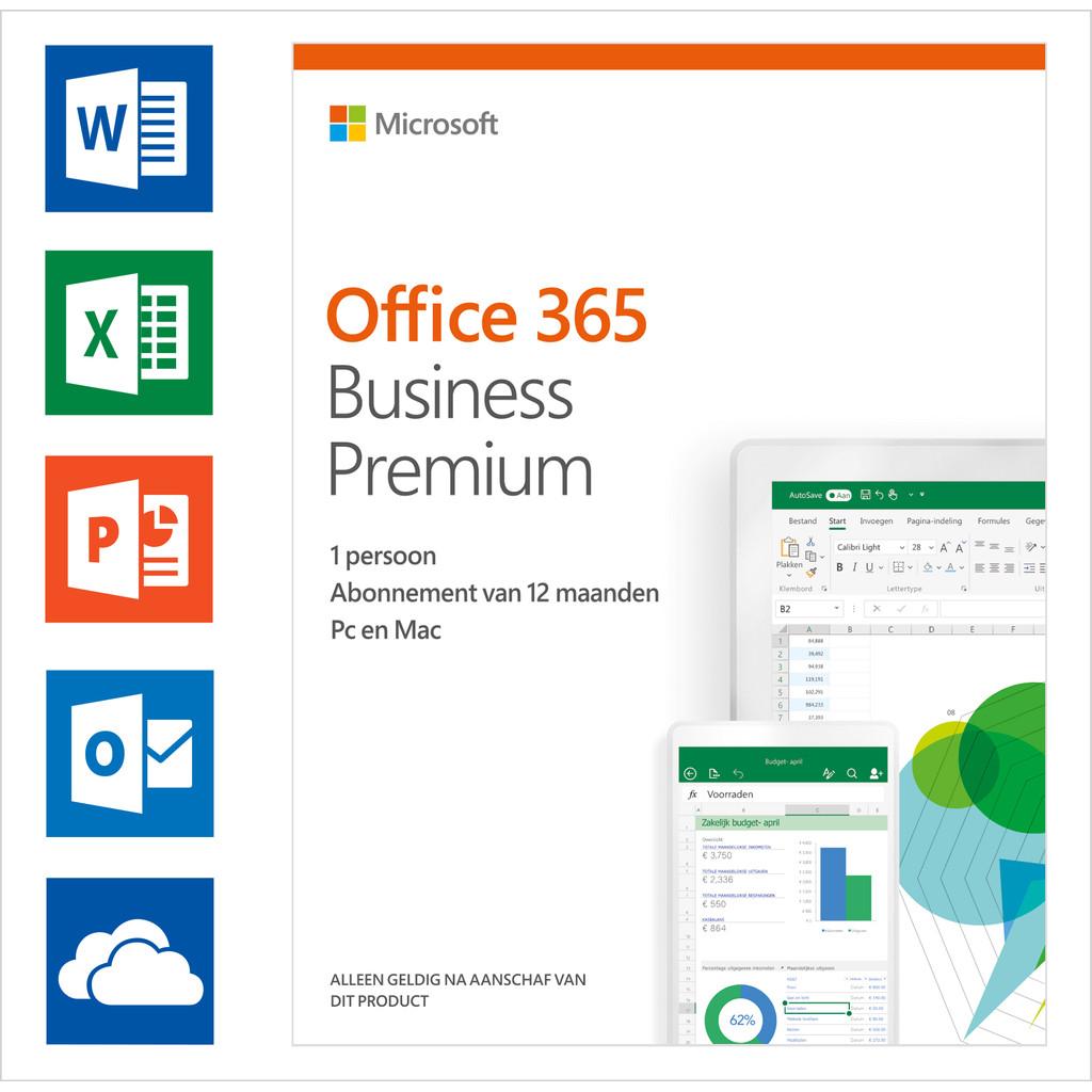 Afbeelding van Microsoft Office 365 Zakelijk Premium 1 jaar Abonnement EN
