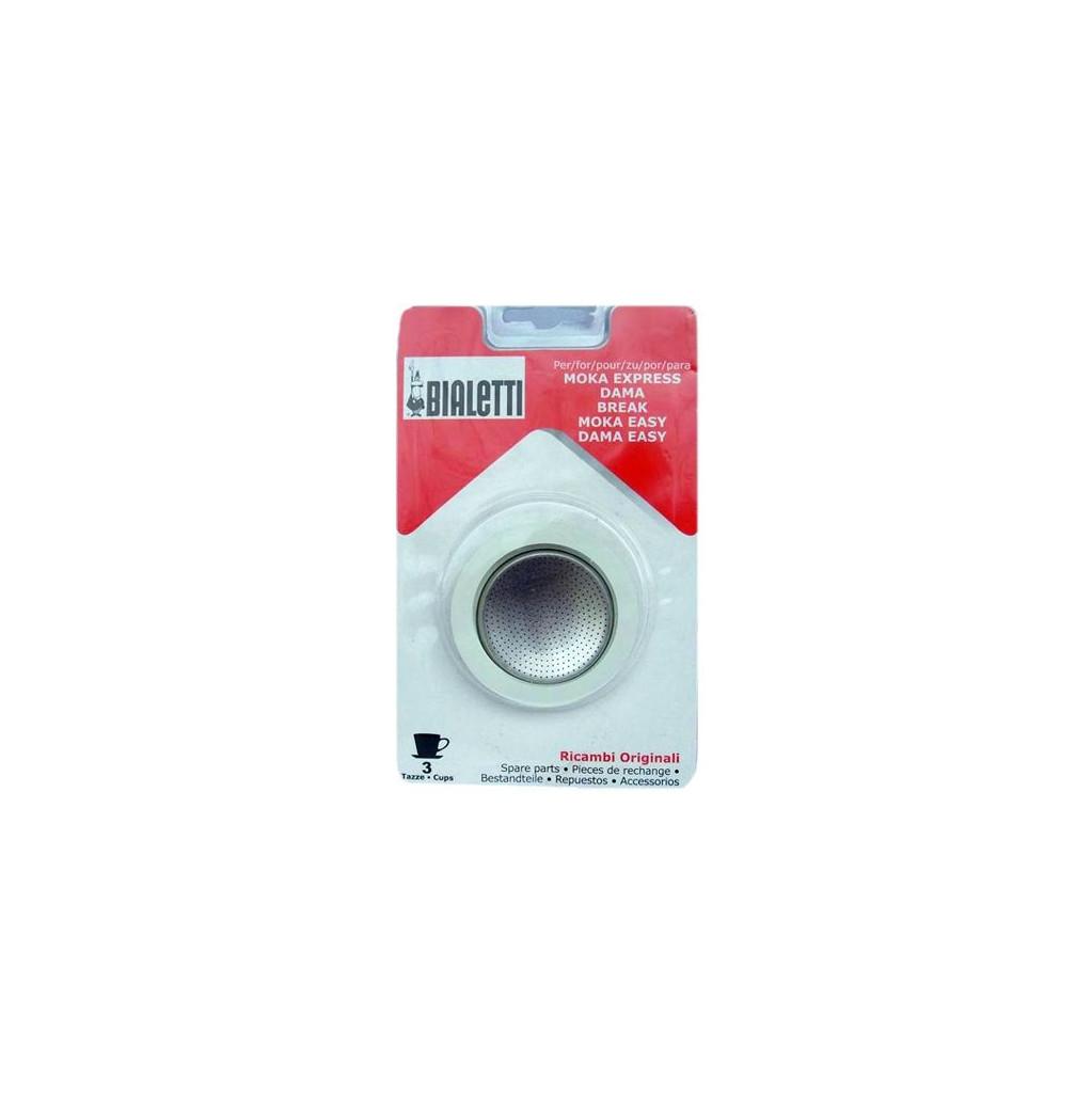 Afbeelding van Bialetti Filterplaatje + Rubber Ring 3 kopjes koffiefilter