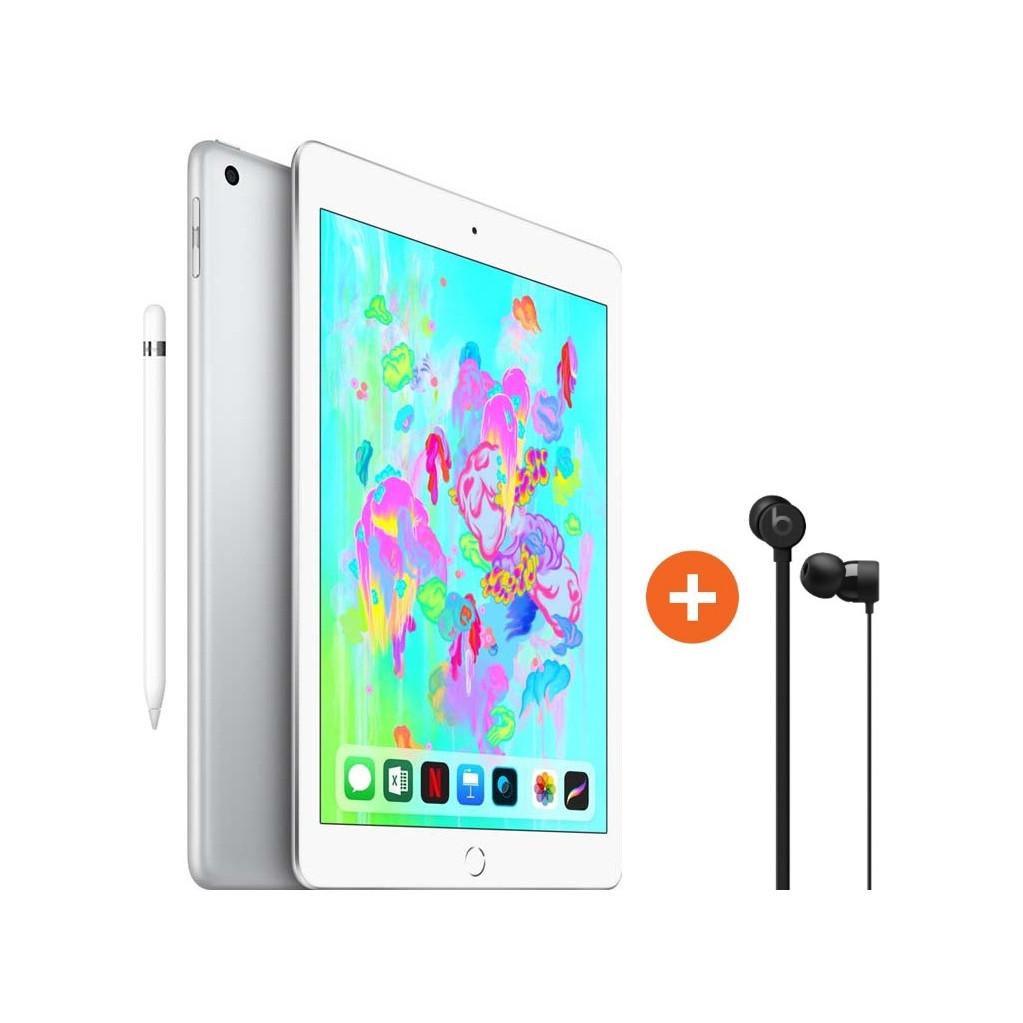 Apple iPad (2018) 128GB Wifi Silver + Apple Pencil