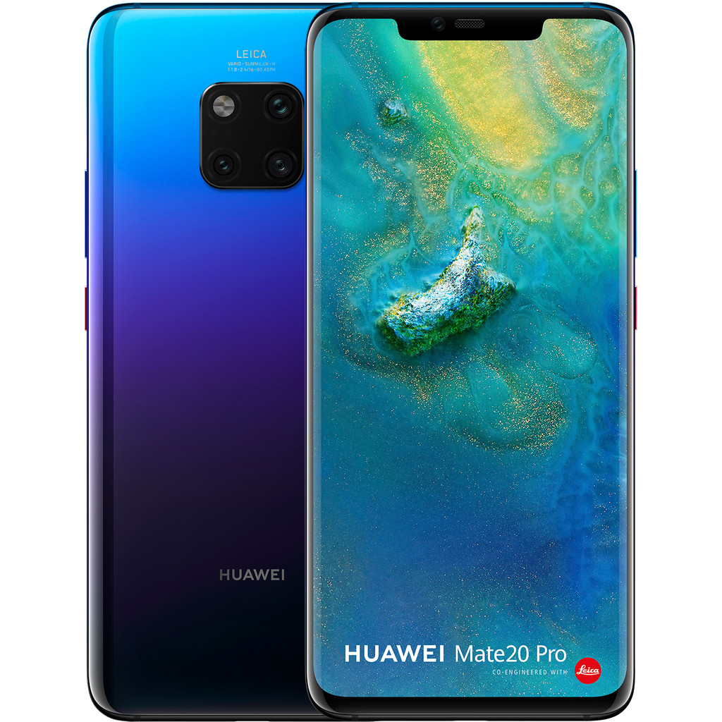 Huawei Mate 20 Pro Paars-128 GB opslagcapaciteit  6,39 inch Quad HD scherm  Android 9.0 Pie