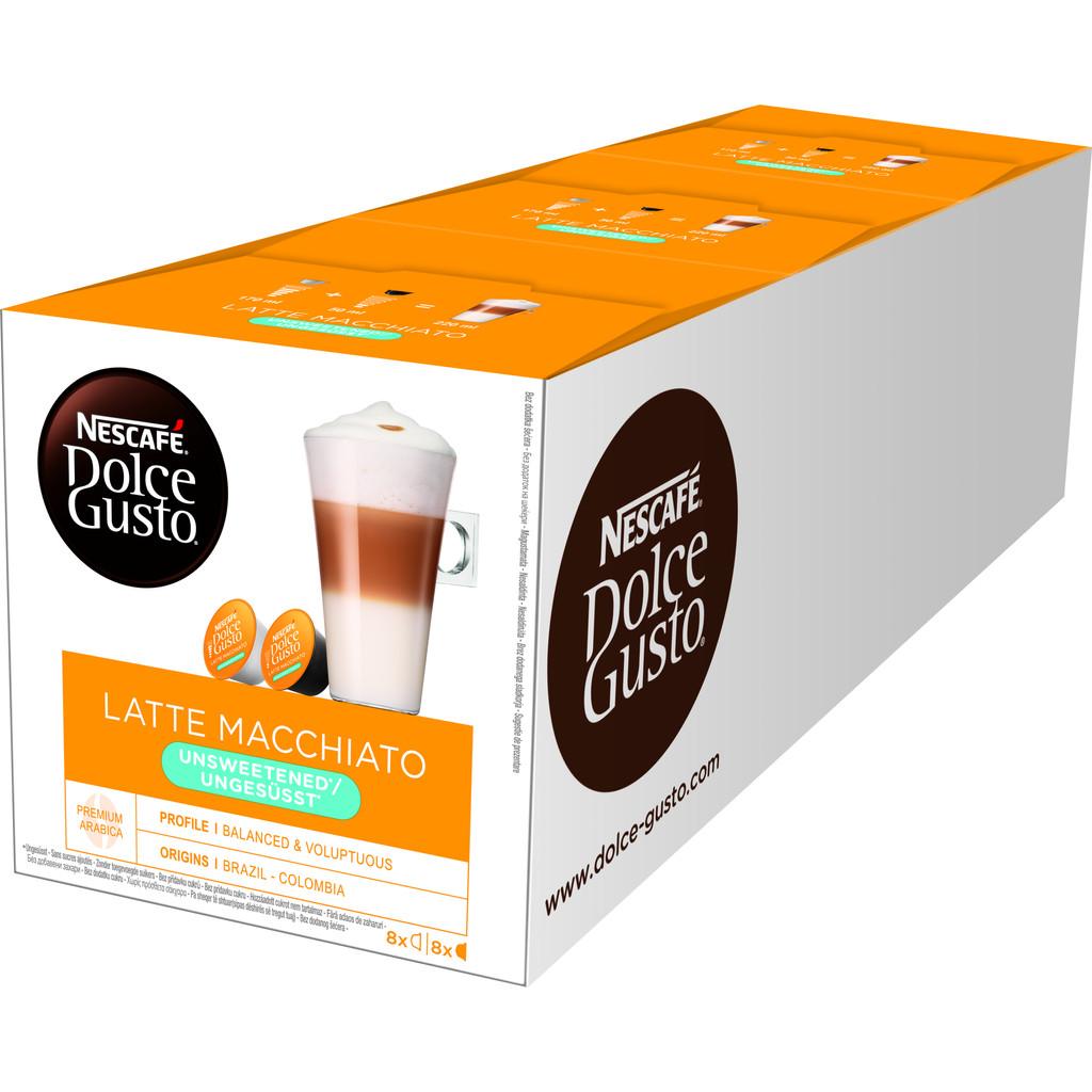 Dolce Gusto Latte Macchiato Unsweetened 3 pack kopen