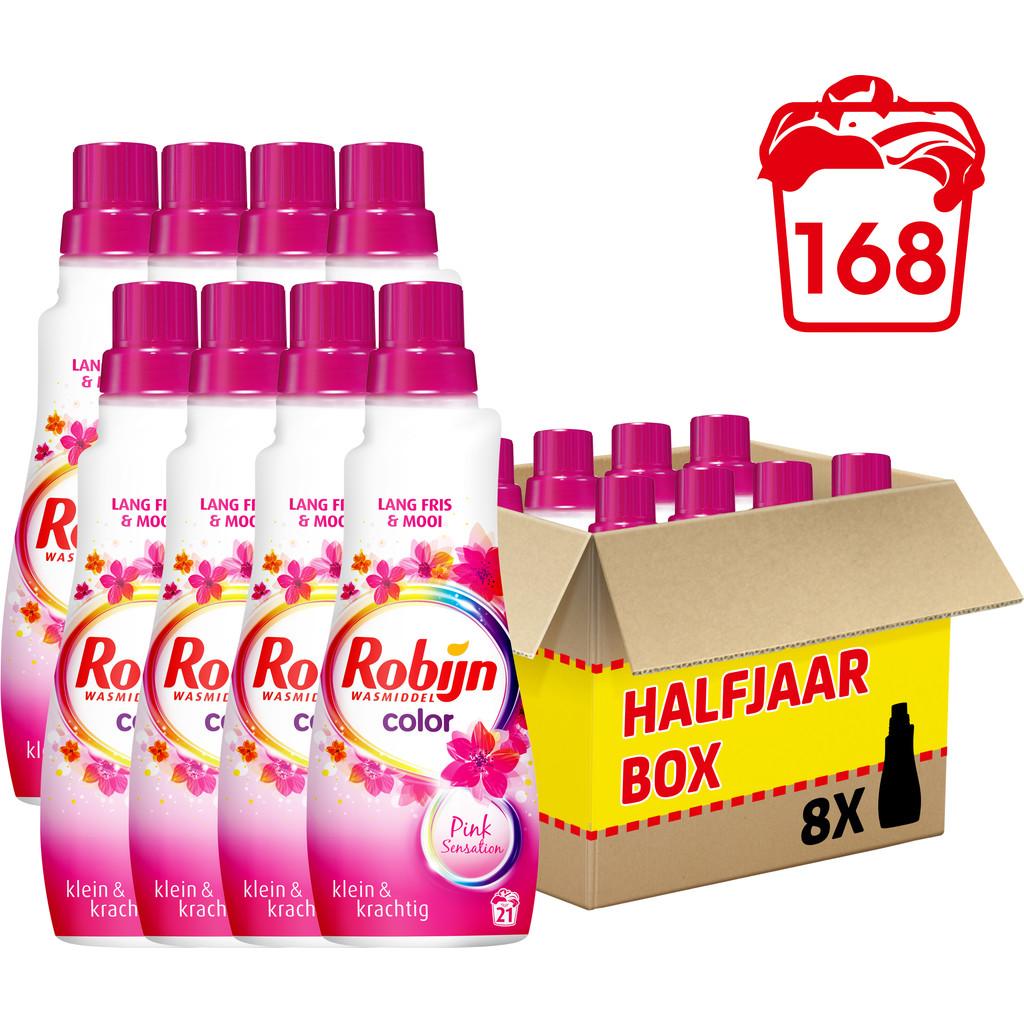 Robijn Klein & Krachtig Color Pink Sensation - 8 stuks Wasmiddel