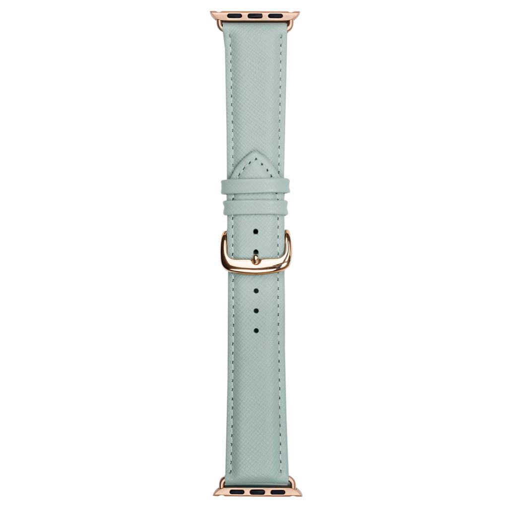 DBramante1928 Madrid Apple Watch 42mm Leren Horlogeband Mint kopen