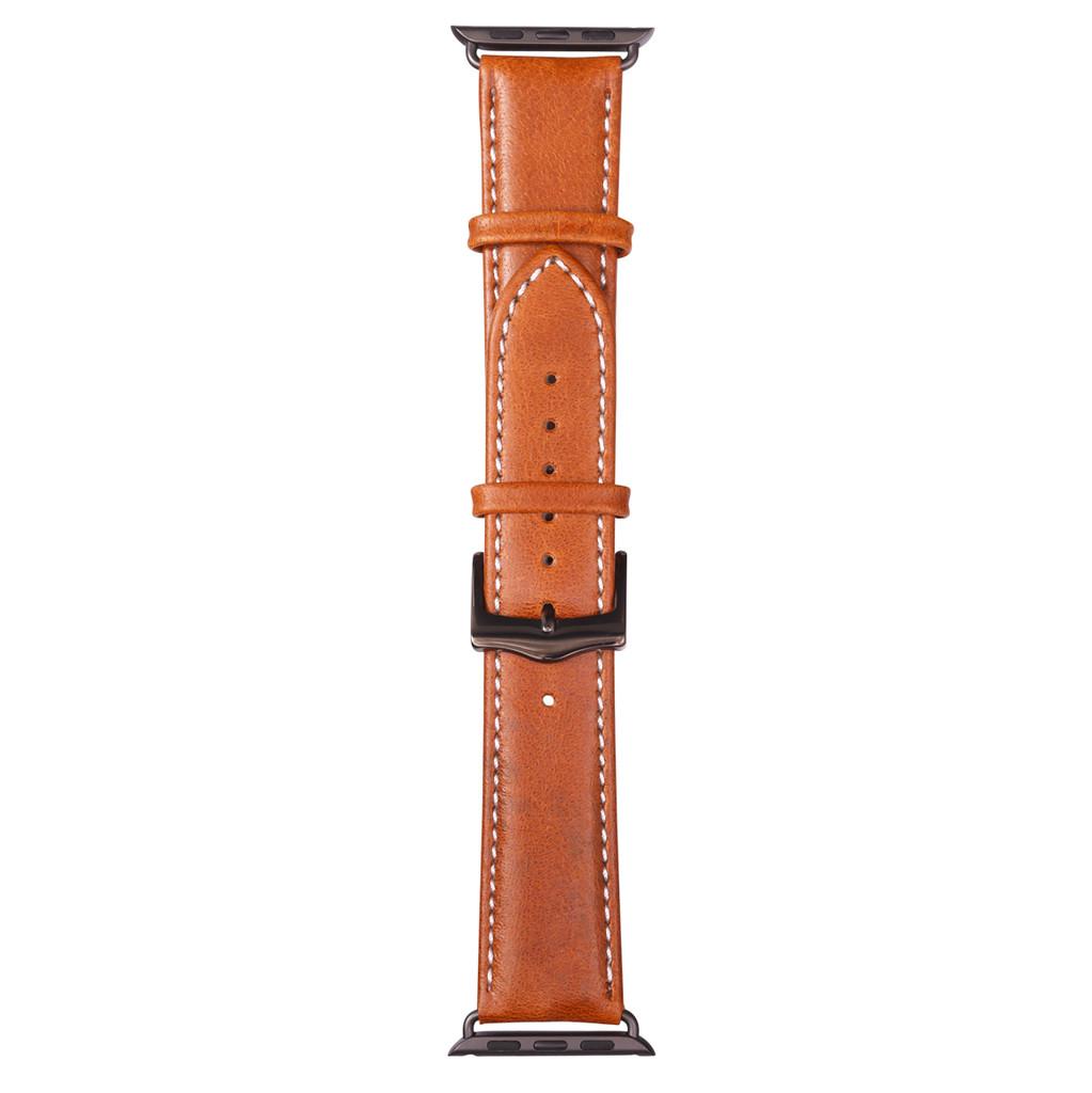 DBramante1928 Copenhagen Apple Watch 38mm Leren Horlogeband Bruin/Zwart kopen