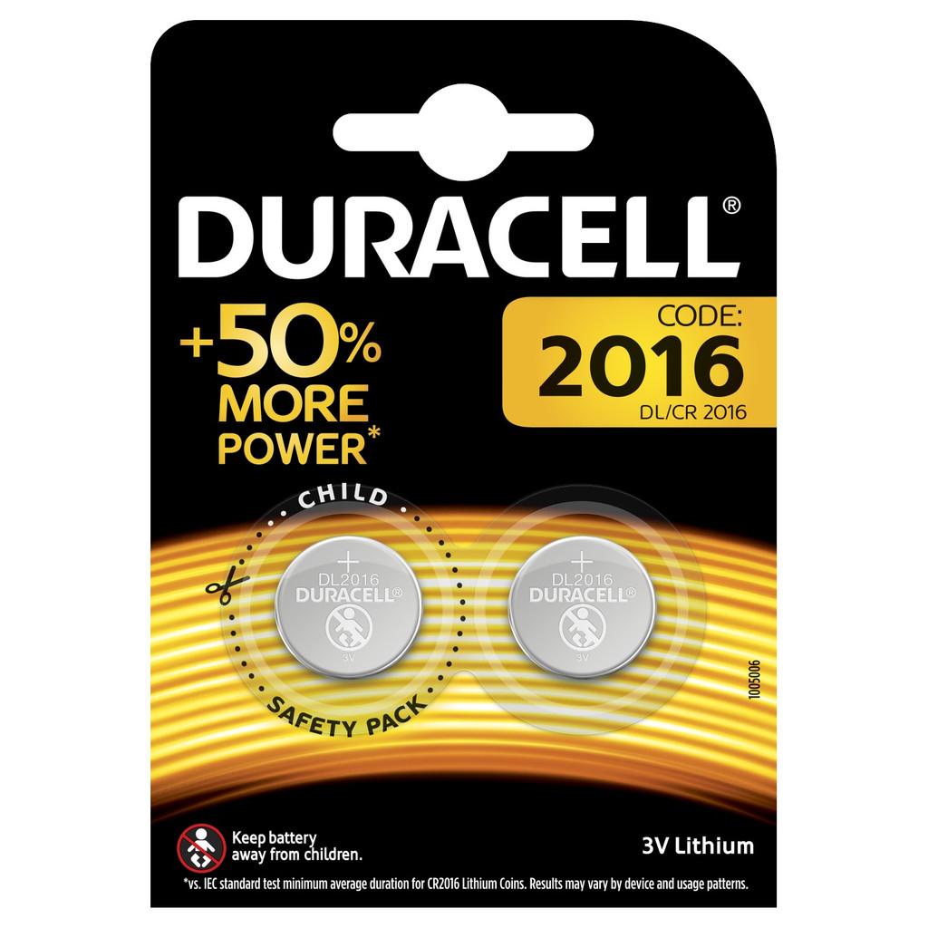 Duracell Specialty 2016 Lithium-knoopcelbatterij 3V 2 stuks