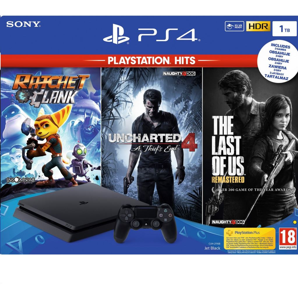 Sony PS4 Slim 1 TB PlayStation Hits bundel (3 games) kopen