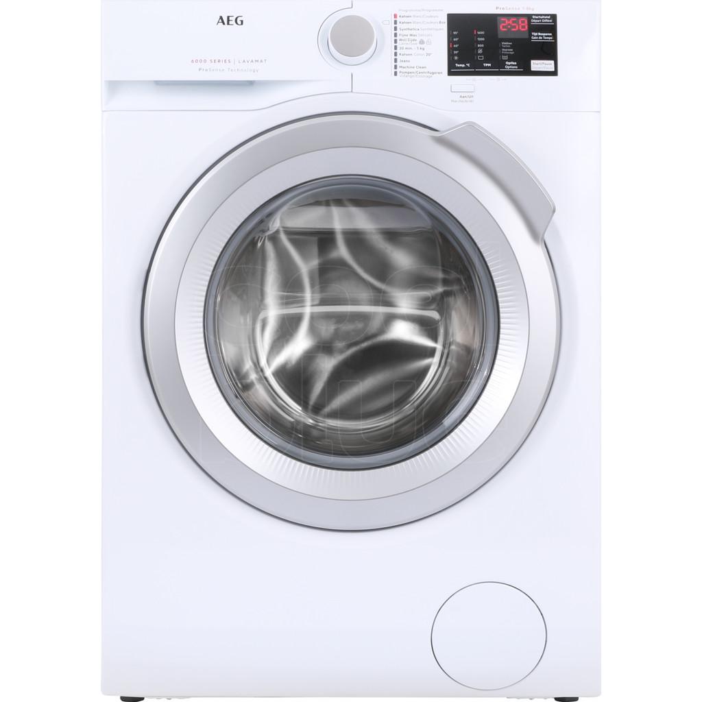 AEG L6FBI86S Vrijstaande wasmachines voorlader