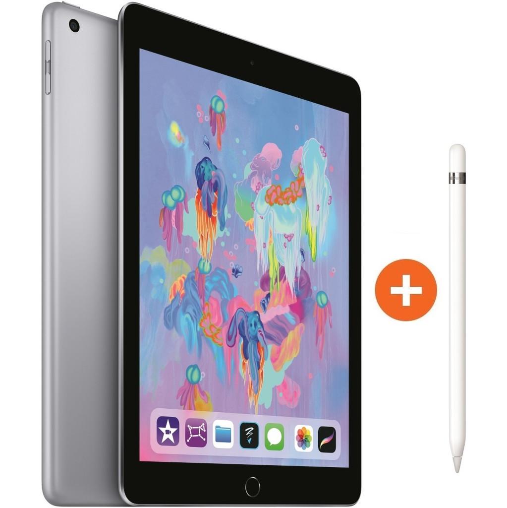 Apple iPad (2018) 128 GB Wifi Space Gray + Apple Pencil