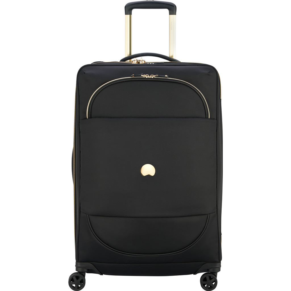 Delsey Montrouge 4 Wheels Expandable Trolley 68 black Zachte koffer