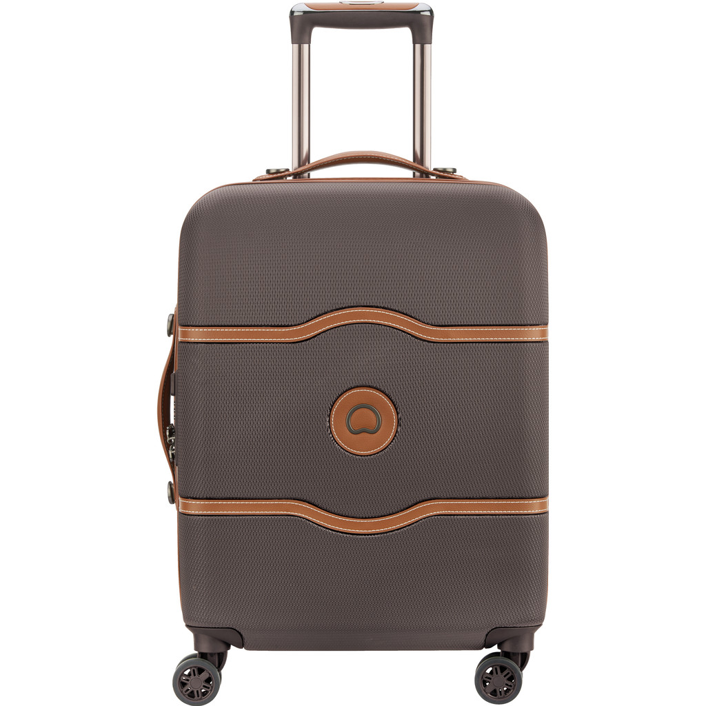 Delsey Chatelet Air 4 Wheel Slim Trolley 55 chocolate Harde Koffer