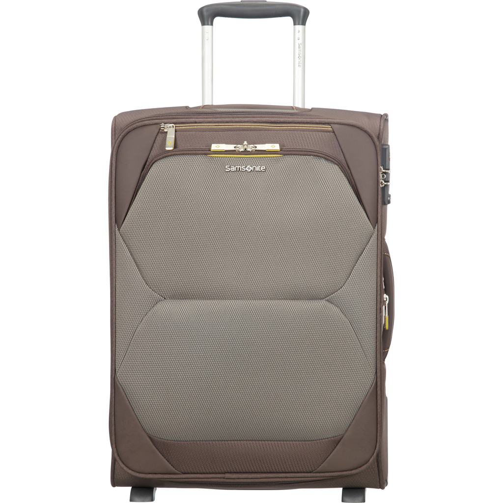 Samsonite Dynamore Upright 55 Expandable Length 40 cm taupe Zachte koffer