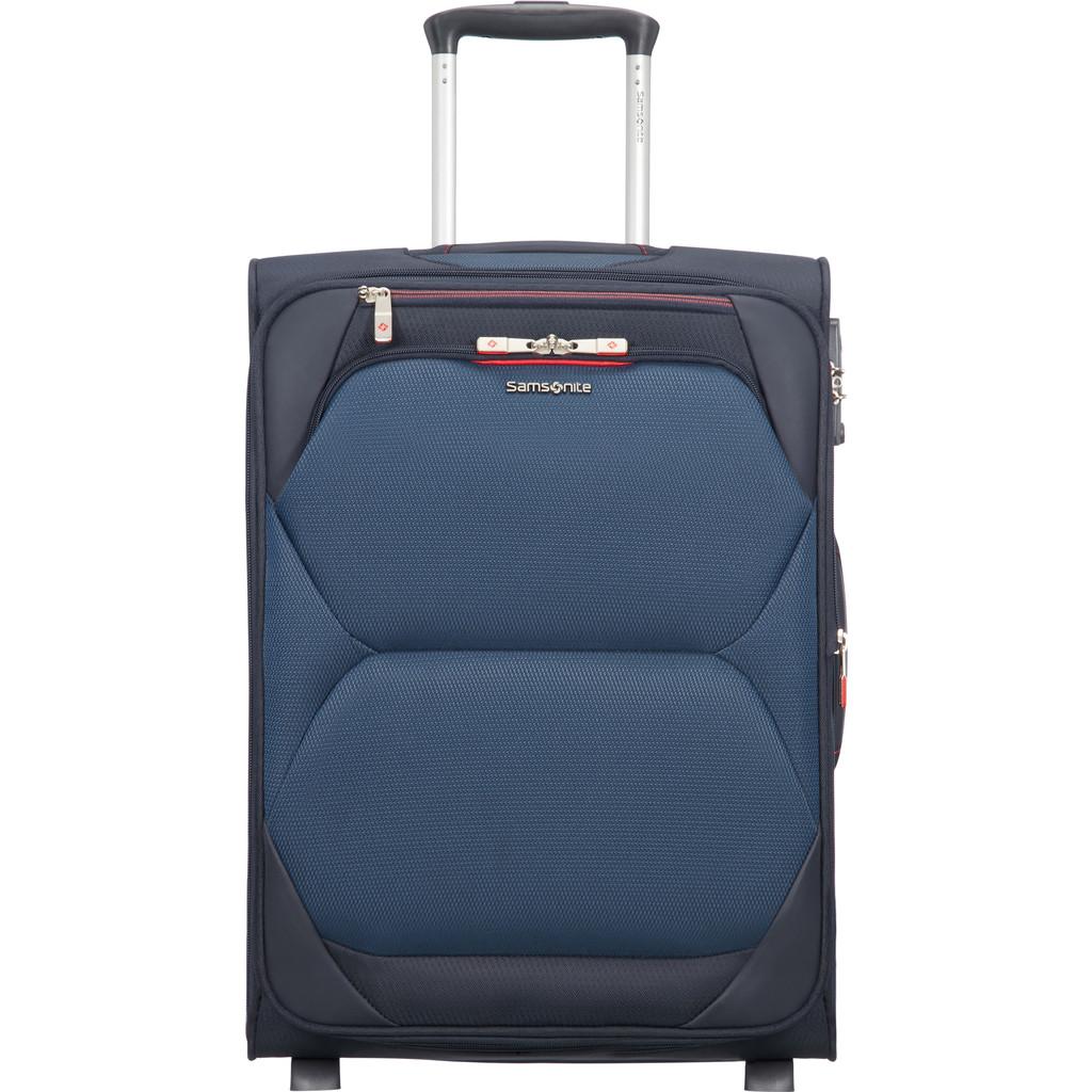 Samsonite Dynamore Upright 55 Expandable Length 40 cm blue Zachte koffer