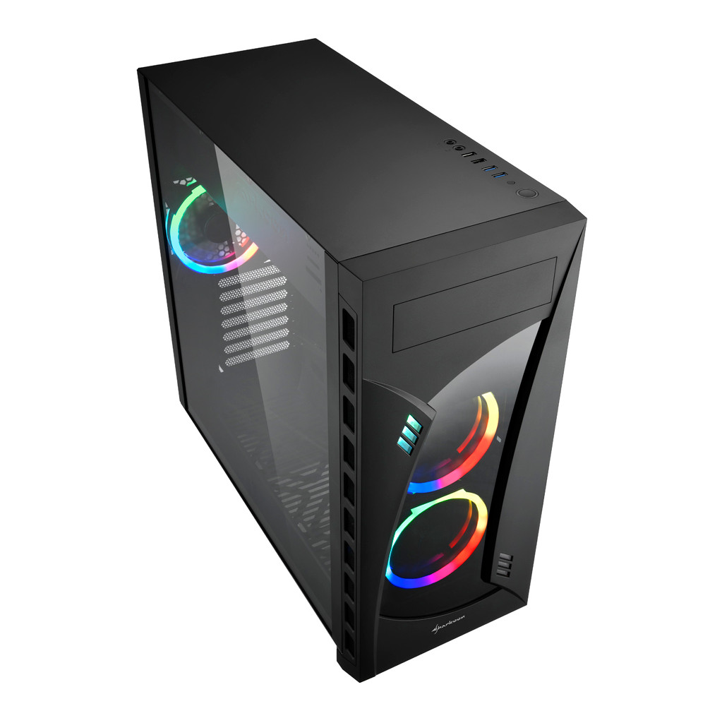 Sharkoon Night Shark RGB Midi ATX Tower Zwart kopen