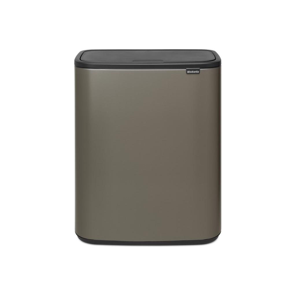 Brabantia Touch Bin Afvalverzamelaar 30 Liter.Brabantia Bo Touch Bin 2 X 30 Liter Platinum