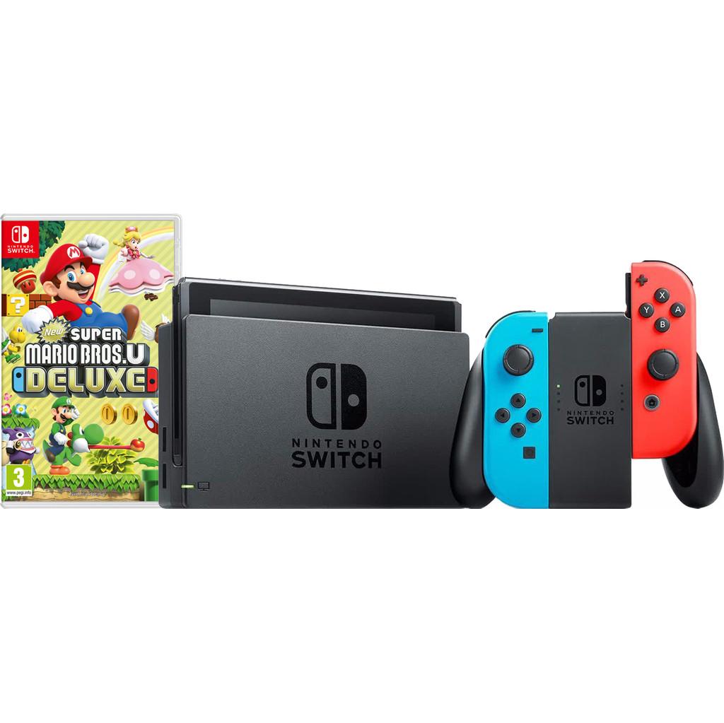 Nintendo Switch Rood/Blauw New Super Mario Bros. U Bundel kopen