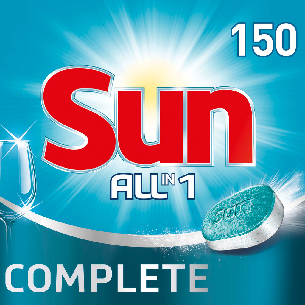Sun Vaatwastabletten All-in-1 Normaal - 150 stuks vaatwastabletten