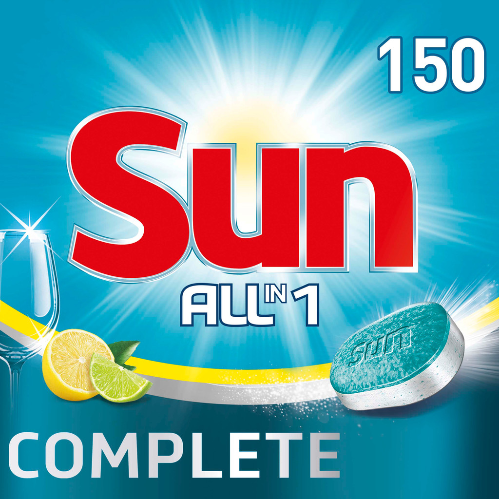 Sun Vaatwastabletten All-in-1 Citroen - 150 stuks vaatwastabletten