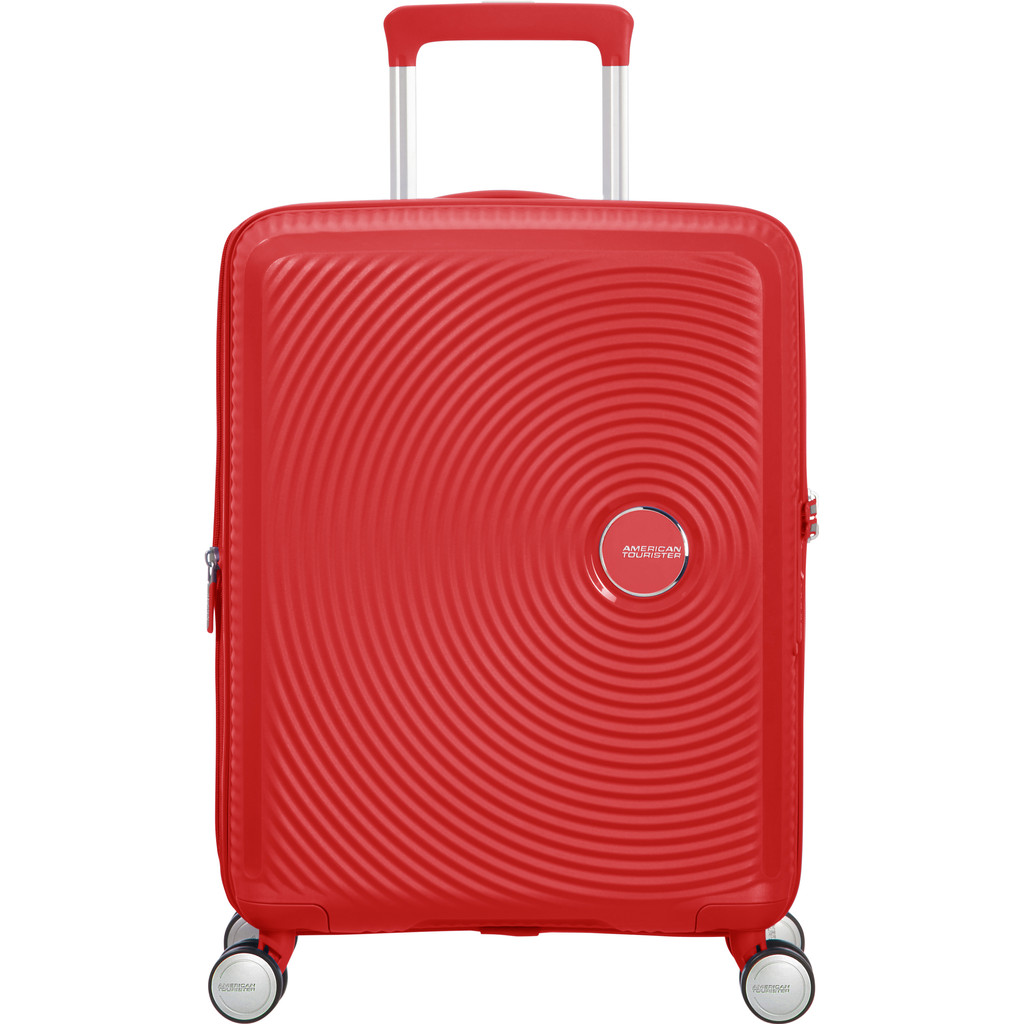 American Tourister Soundbox Spinner 55 Expandable coral red Harde Koffer