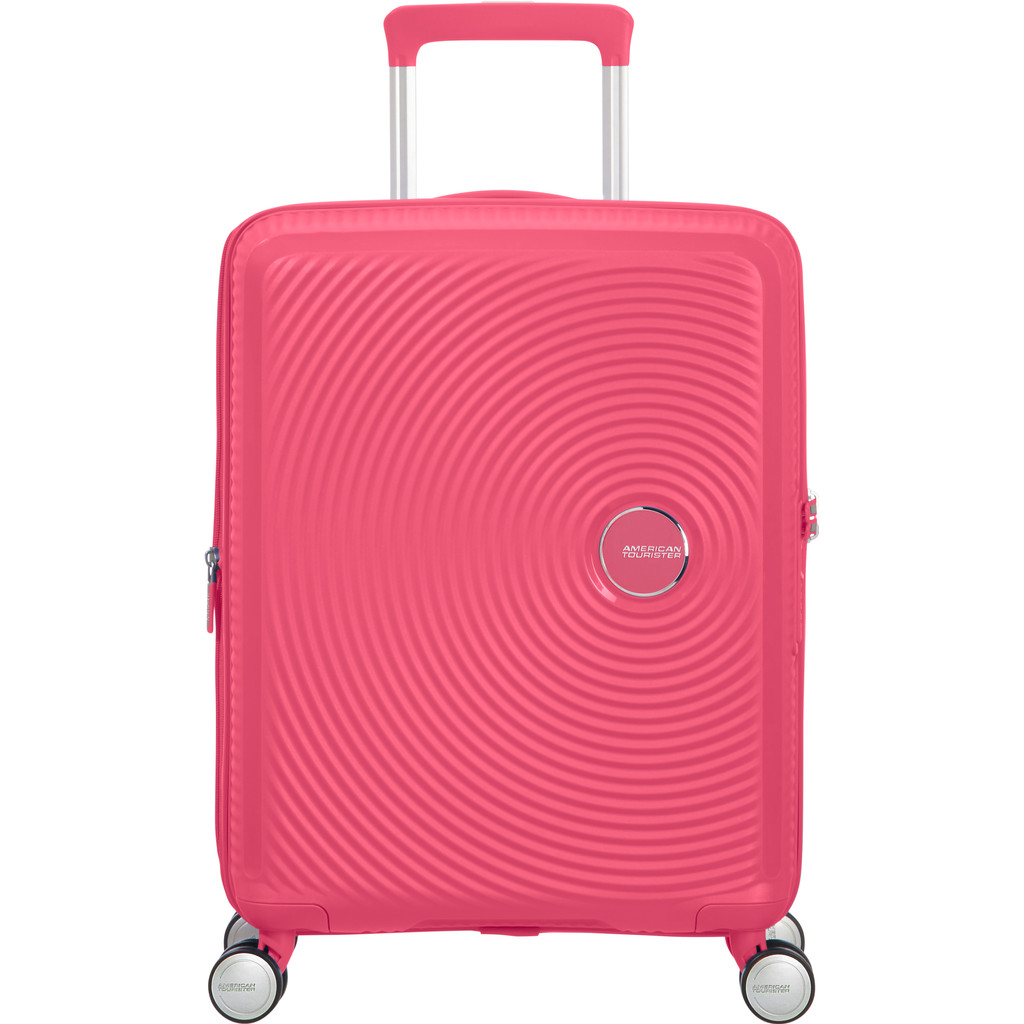 American Tourister Soundbox Spinner 55 Expandable hot pink Harde Koffer