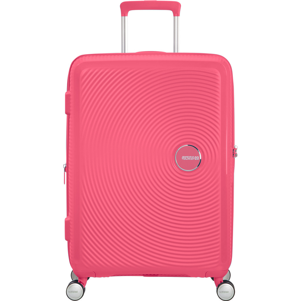 American Tourister Soundbox Spinner 67 Expandable hot pink Harde Koffer