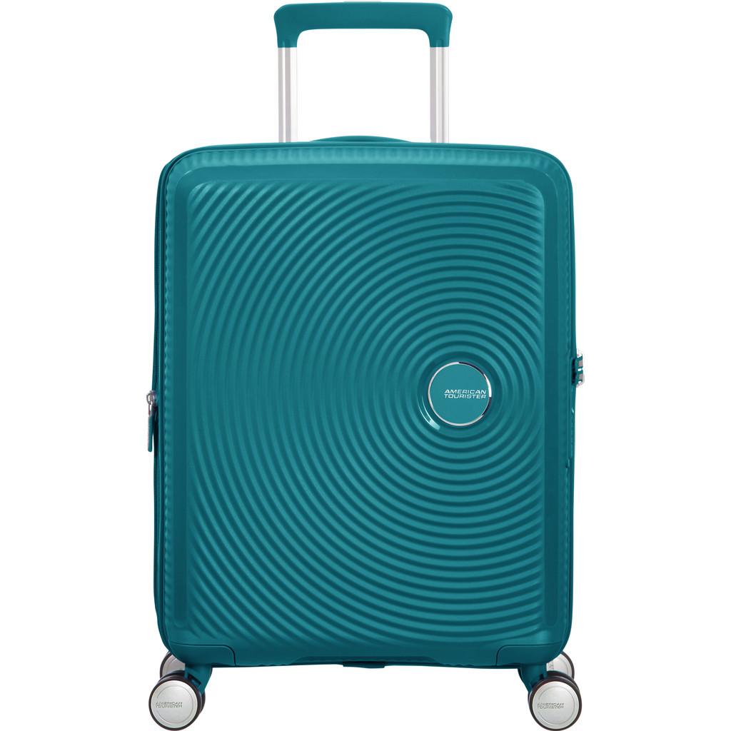 American Tourister Soundbox Spinner 55 Expandable jade green Harde Koffer