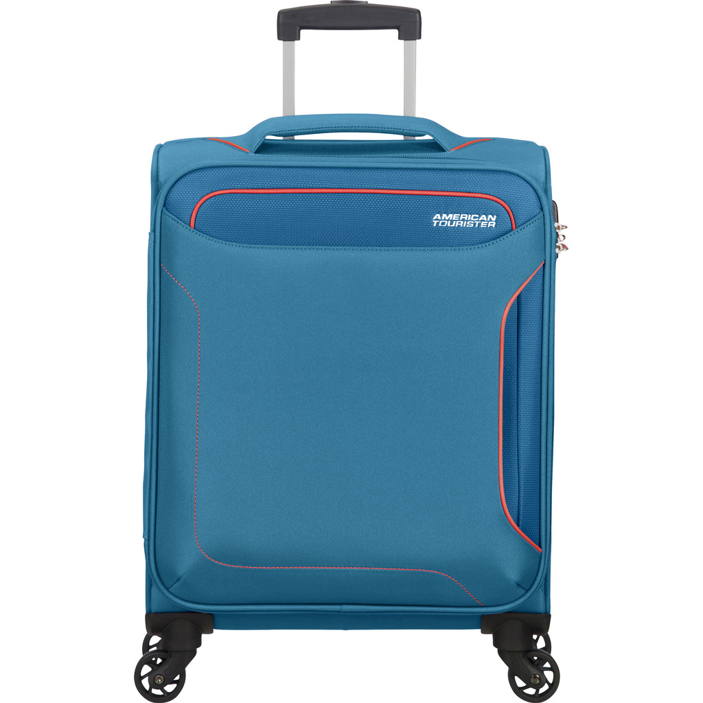 American Tourister Holiday Heat Spinner 55 denim blue Zachte koffer