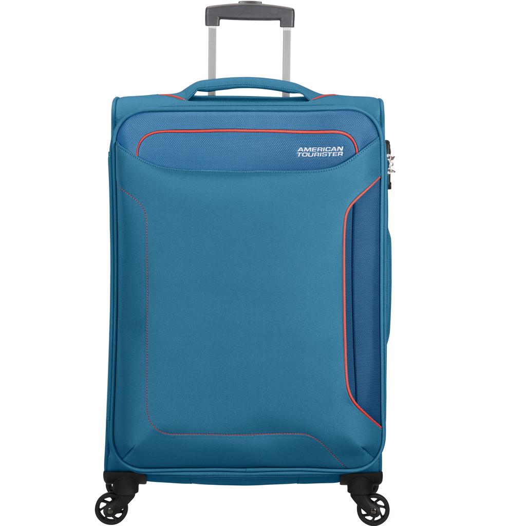 American Tourister Holiday Heat Spinner 67 denim blue Zachte koffer
