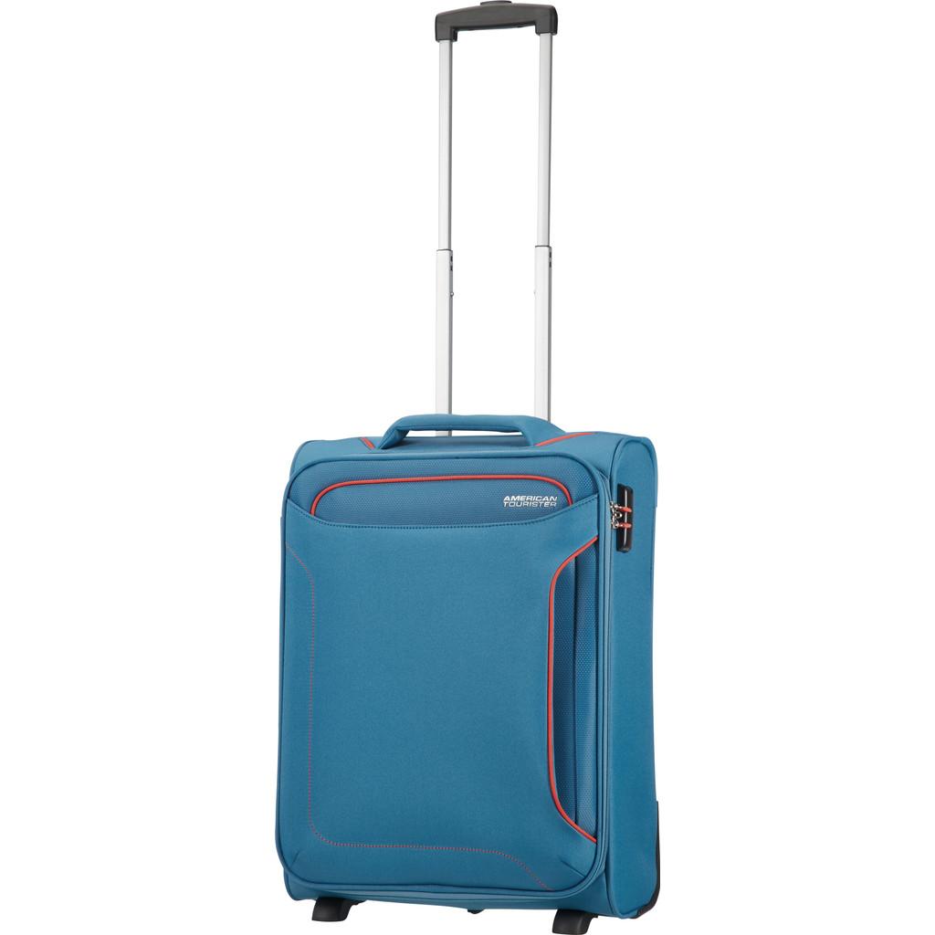 American Tourister Holiday Heat Upright 55 denim blue Zachte koffer
