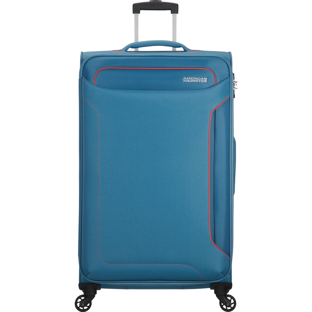 American Tourister Holiday Heat Spinner 79 denim blue Zachte koffer