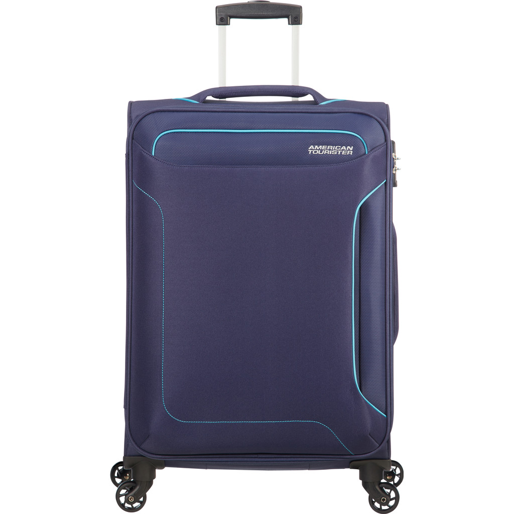 American Tourister Holiday Heat Spinner 55 navy Zachte koffer