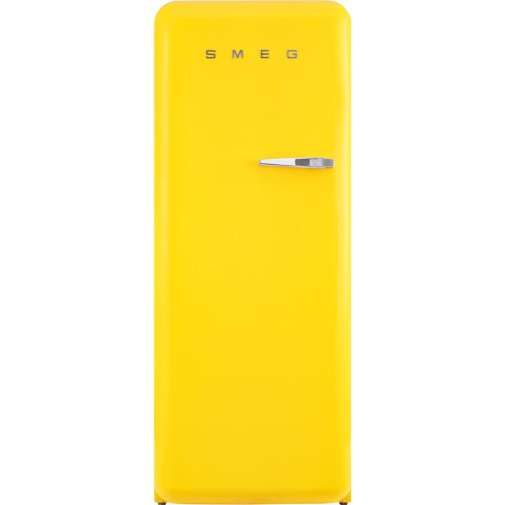 Smeg FAB28LYW3 koelkast met diepvriesvak in de kleur geel met naar...