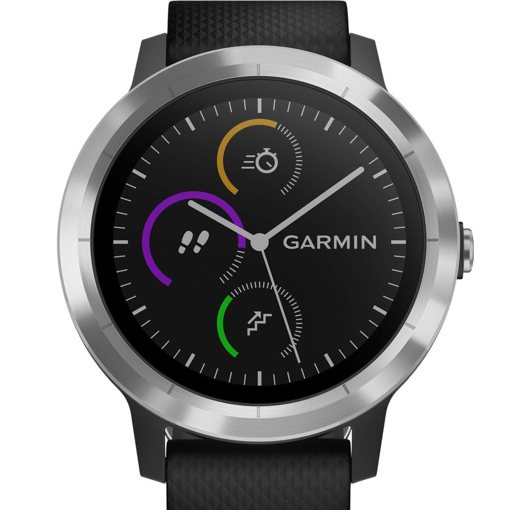 GARMIN vívoactive 3 Zwart-RVS