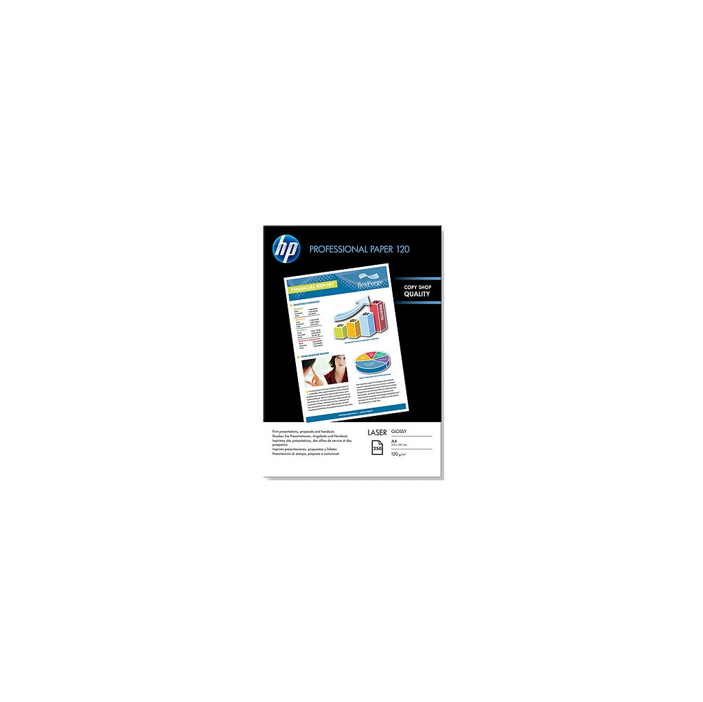 HP Professional Glossy Laser Papier 250 Vel A4 (120 g/m2) in Walem