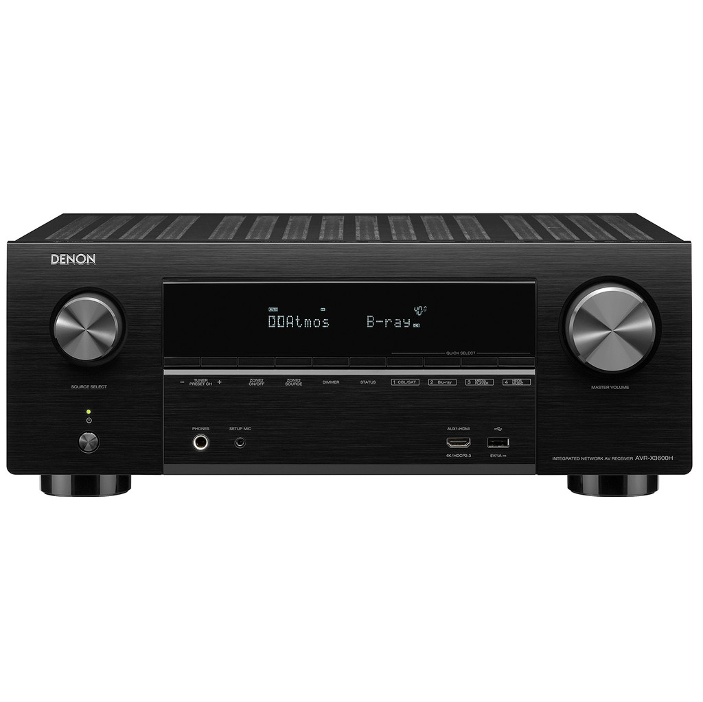 Denon: AVR-X3600H Surround receiver Zwart