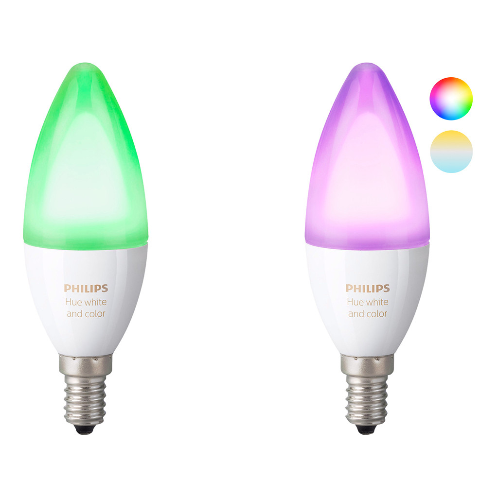 Philips Hue 2-Pack Bulb E14 Richer Color