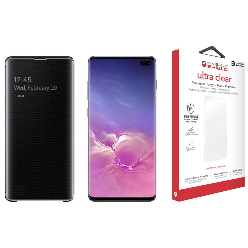 Samsung Galaxy S10 Plus 128 GB Zwart Beschermingspakket