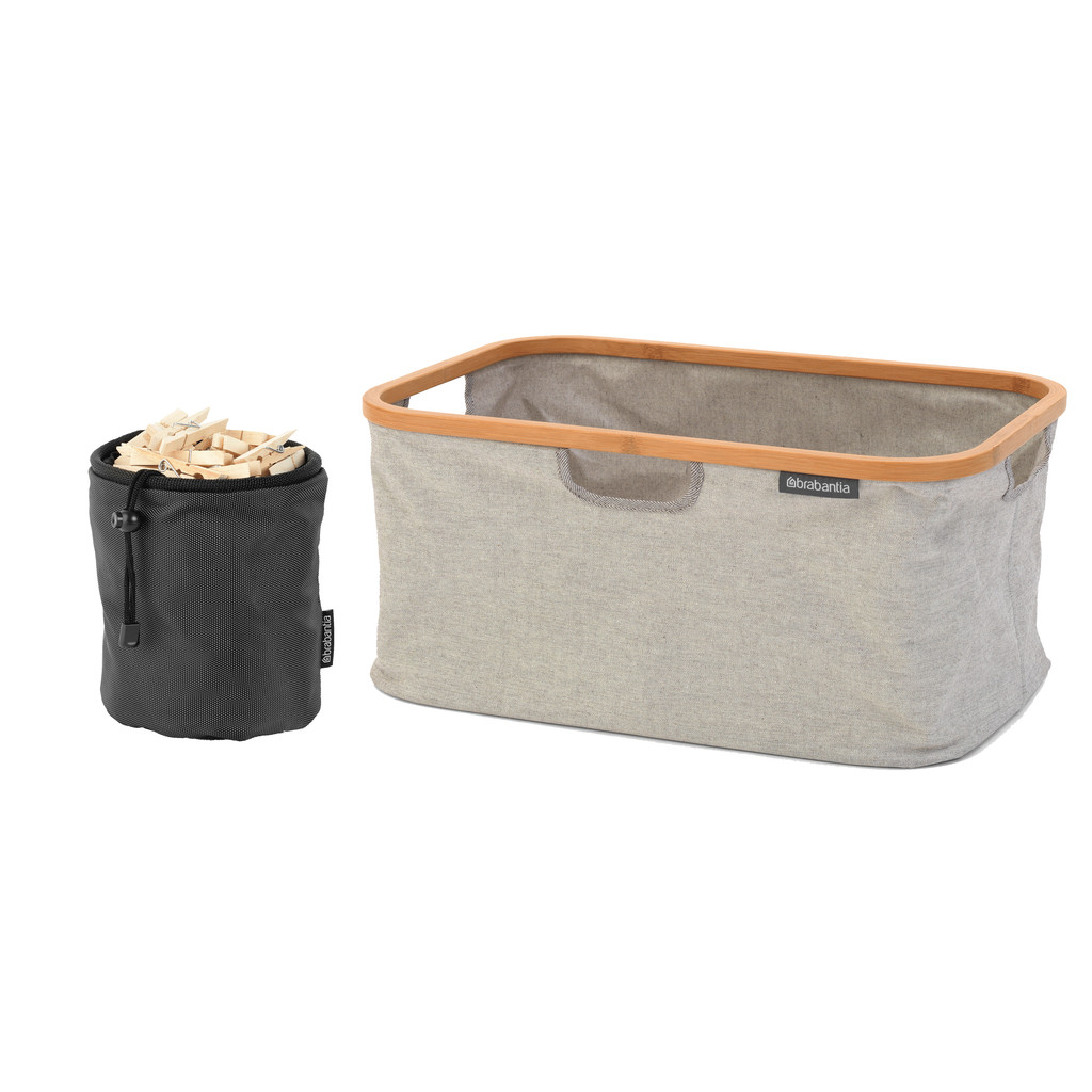 Brabantia Wasmand Opvouwbaar 40 liter + Wasknijpertasje