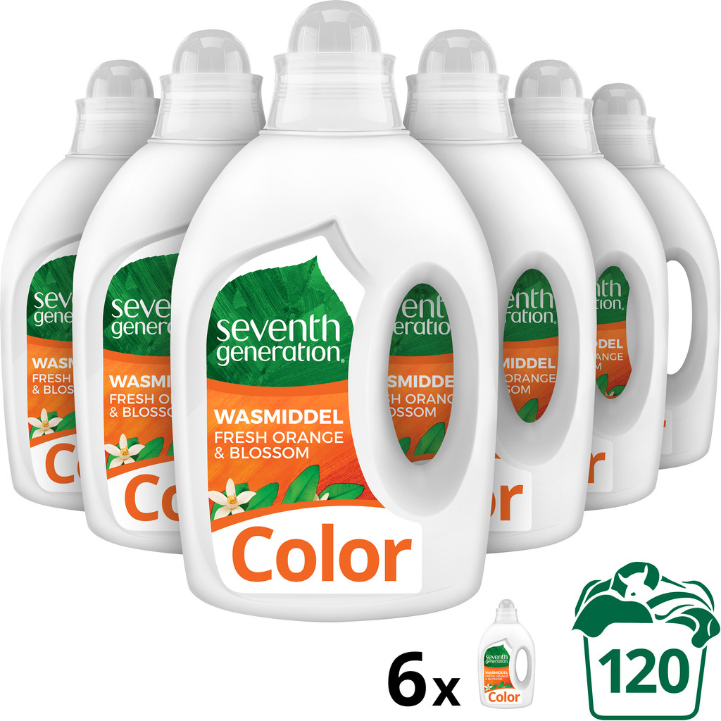 Seventh Generation Color Oranjebloesem Vloeibaar Wasmiddel - 6 stuks Wasmiddel