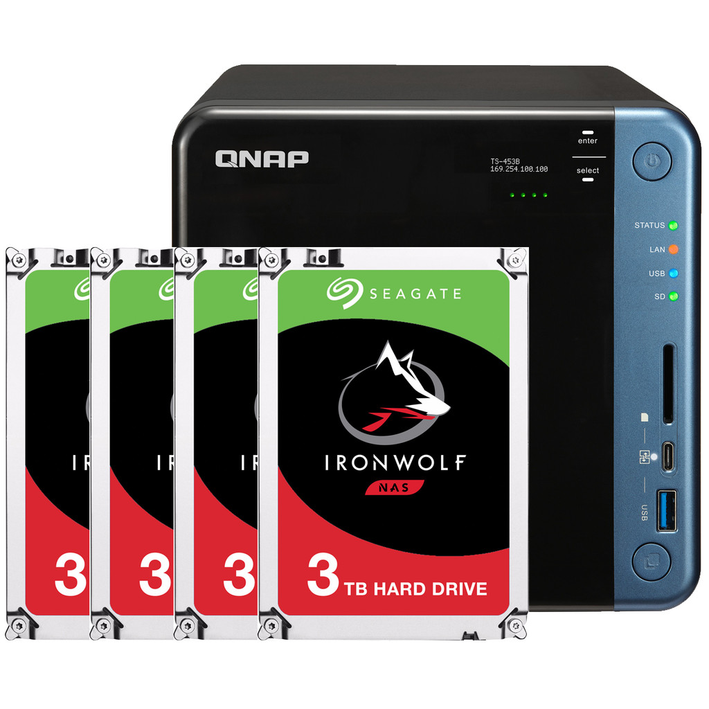 QNAP TS 453B 8 GB 4x 3TB