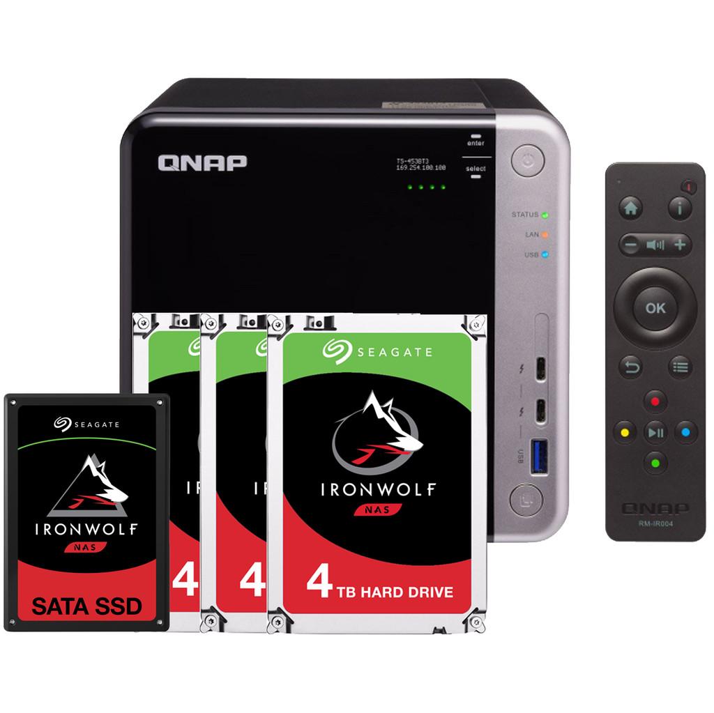 QNAP TS 453BT3 8GB 1x 960GB SSD 3x 4TB HDD