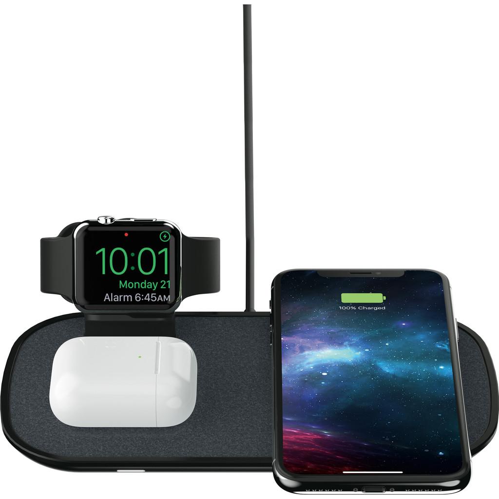 Tweedekans Mophie 3-in-1 Draadloze Oplader 7,5W met Apple Watch Stand Zwart