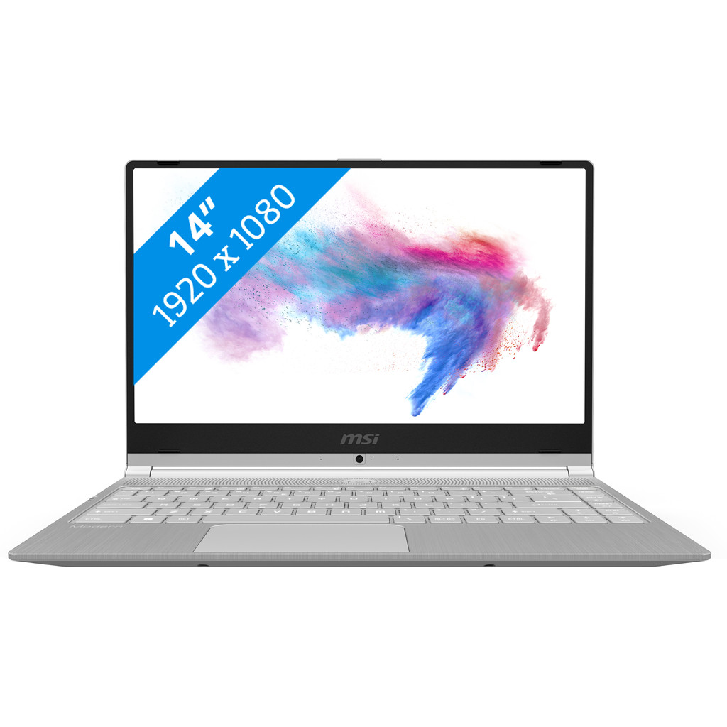 MSI Modern 14 A10M-490NL Zilver Notebook 35,6 cm (14 ) 1920 x 1080 Pixels 10th gen Intel® Core© i