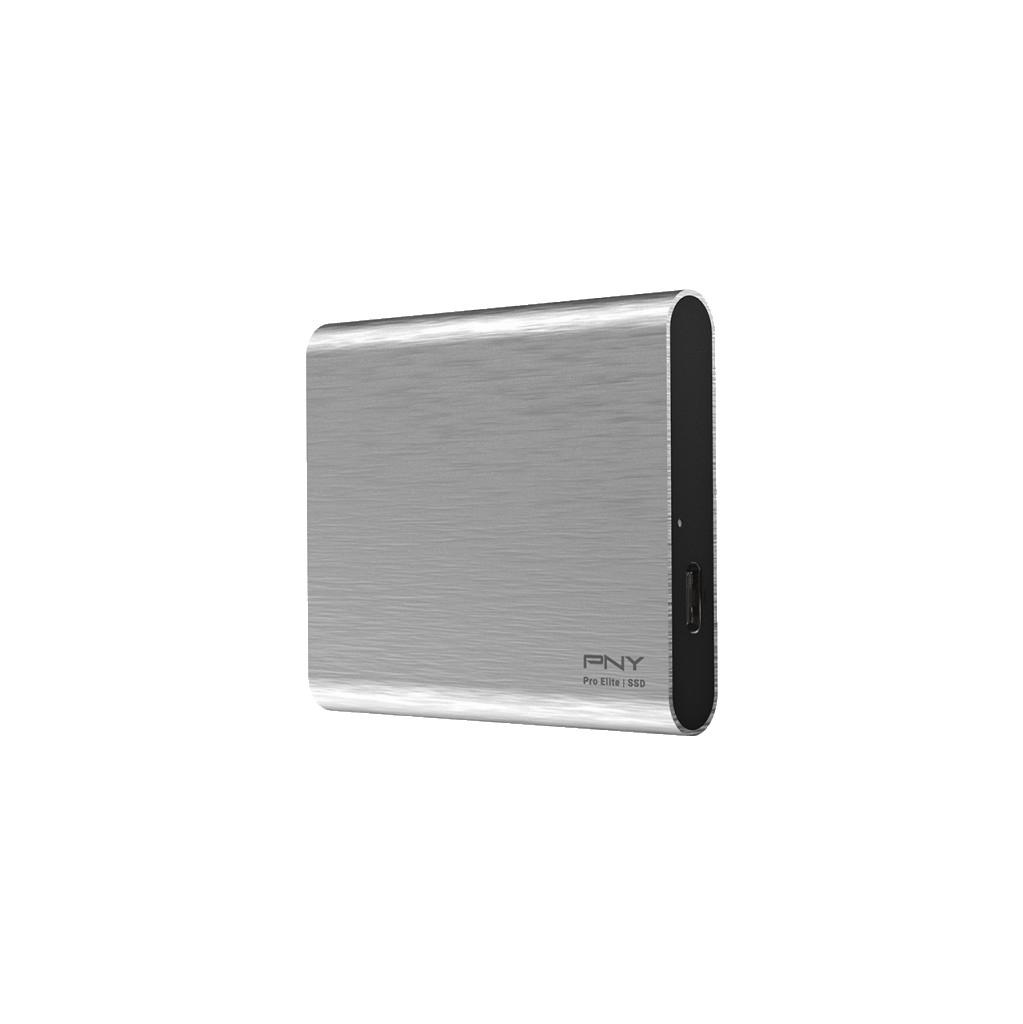 PNY Pro Elite Portable SSD 500GB Zilver kopen