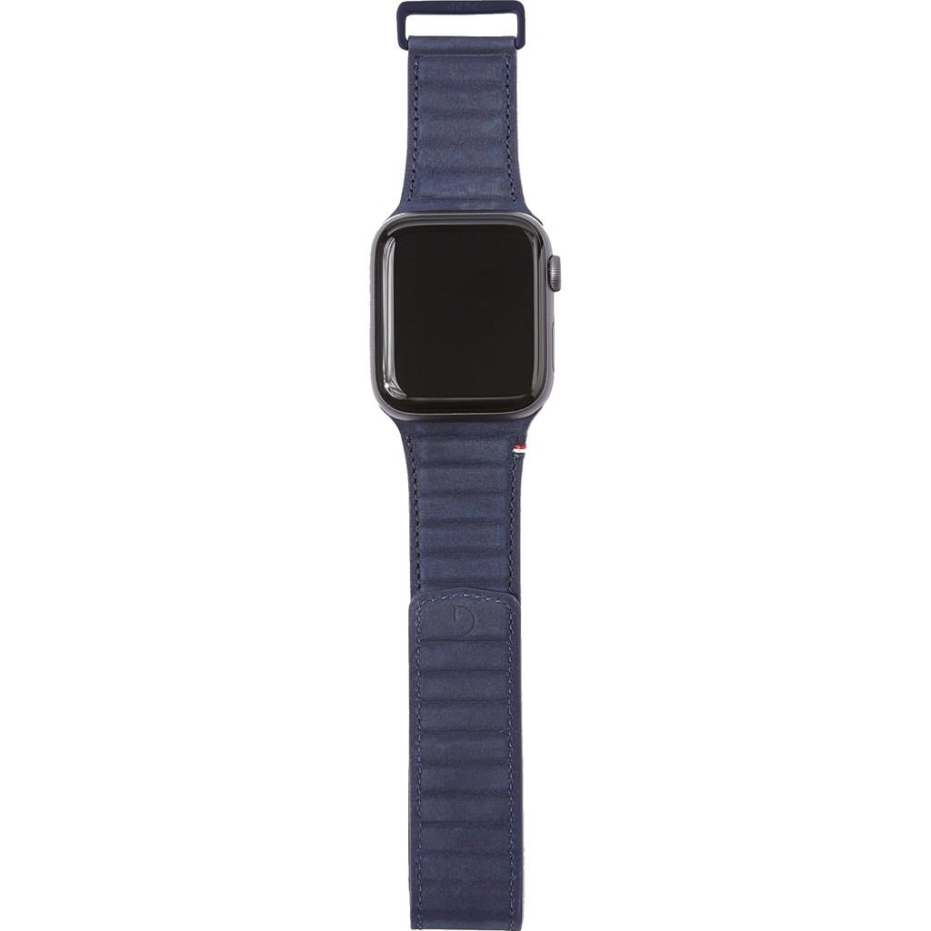 Tweedekans Decoded Apple Watch 38/40mm Leren Bandje Blauw