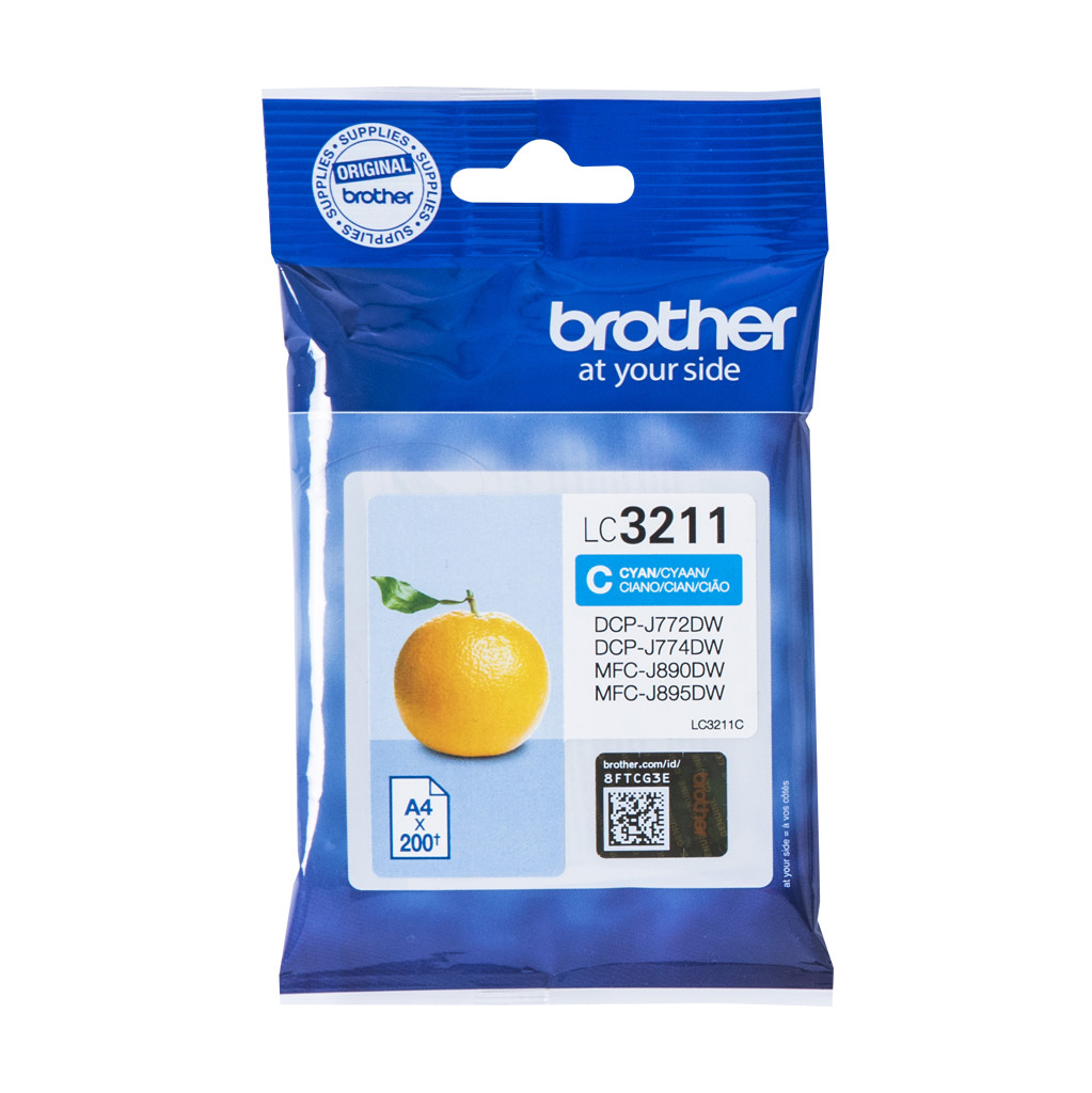 Brother LC-3211C Cartridge Cyaan