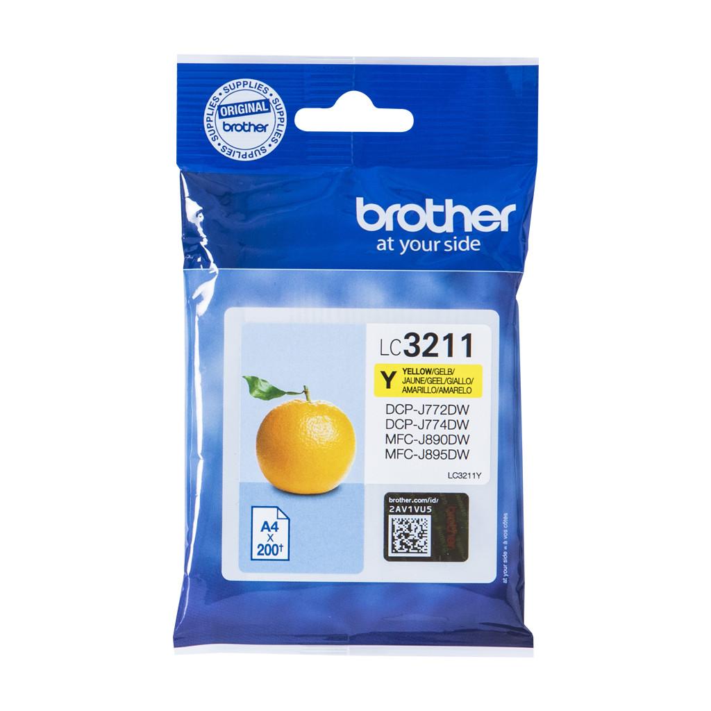 Brother LC-3211Y Cartridge Geel